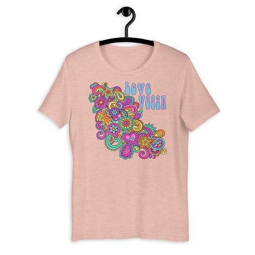 Love Vegan - Short Sleeved Unisex T-Shirt