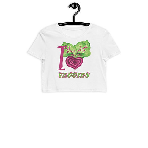 I Love Veggies - Organic Crop Top