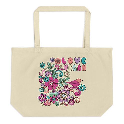 Love Vegan - Large Organic Tote Bag