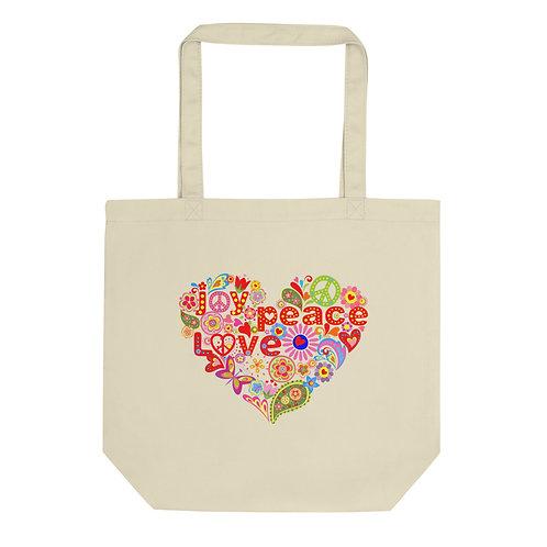 Joy Peace Love - Eco Tote Bag