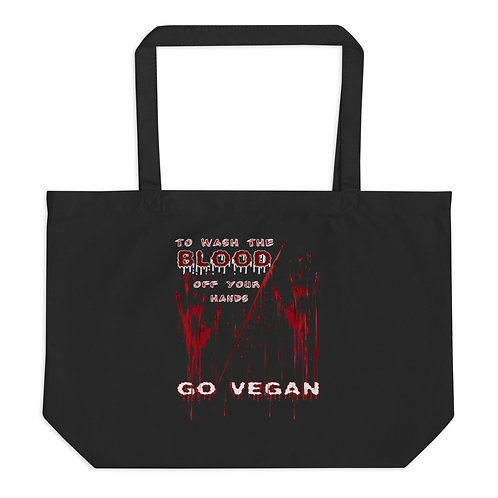 To Wash the Blood - Large Organic Tote Bag