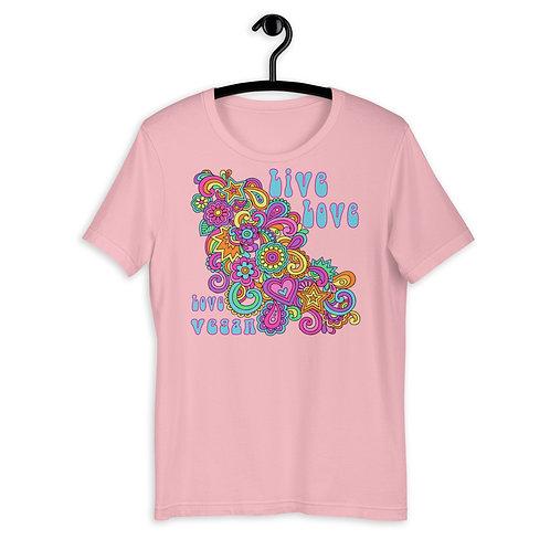 Live Love, Love Vegan - Short Sleeved Unisex T-Shirt