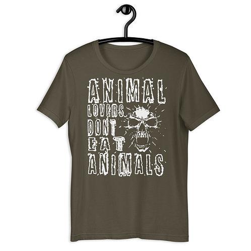 Animal Lovers Dont Eat Animals - Short Sleeved Unisex T-Shirt