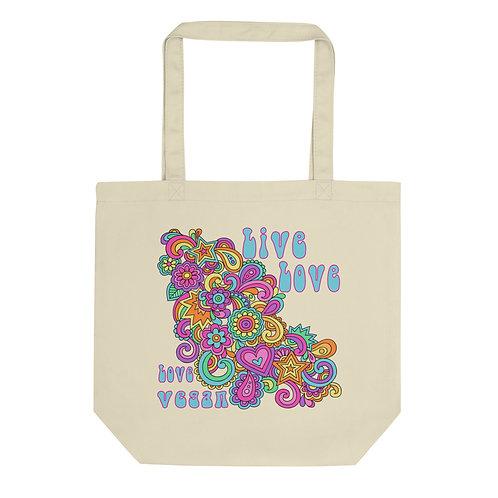 Live Love, Love Vegan - Eco Tote Bag