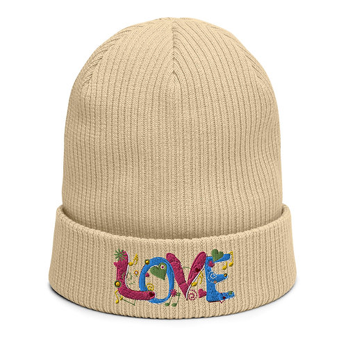 Love - Organic Ribbed Beanie