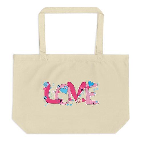 Love - Large Organic Tote Bag