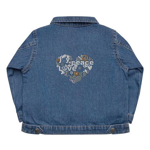 Love Peace Joy - Baby Organic Jacket
