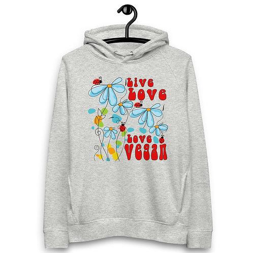 Live Love, Love Vegan - Unisex Pullover Hoodie