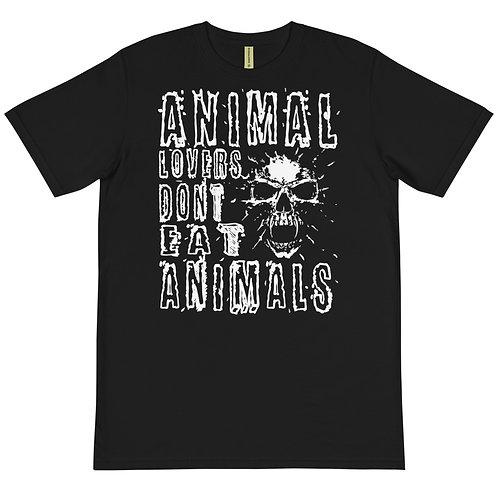 Animal Lovers Dont Eat Animals - Organic T-Shirt