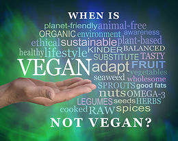 When is Vegan Not Vegan?
