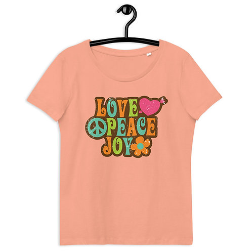 Love Peace Joy - Women's Fitted Eco Tee