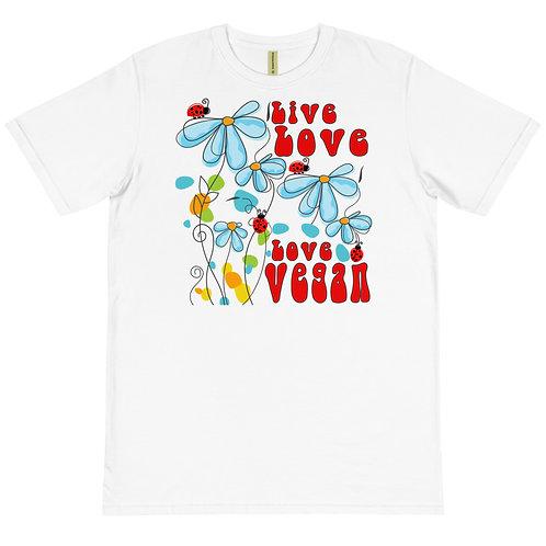 Live Love, Love Vegan - Organic T-Shirt