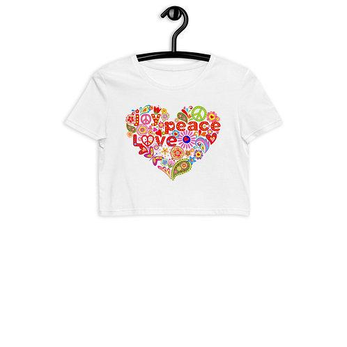 Love Peace Joy - Organic Crop Top