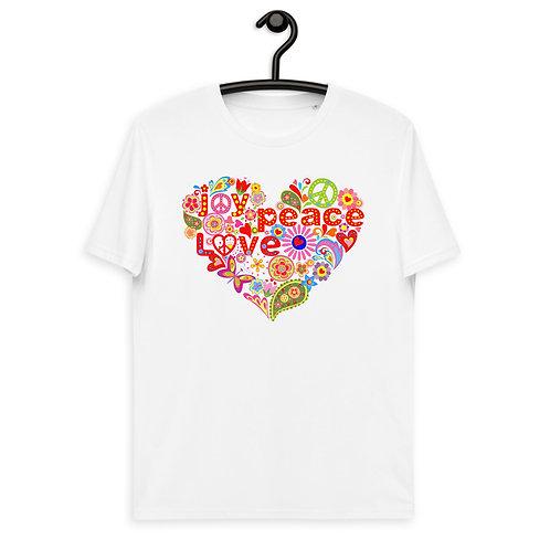 Love Peace Joy - Unisex Organic Cotton t-shirt
