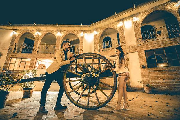 Cena romantica en hacienda