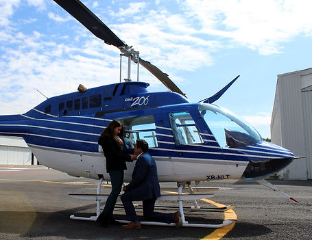 vuelo para pedir matrimonio