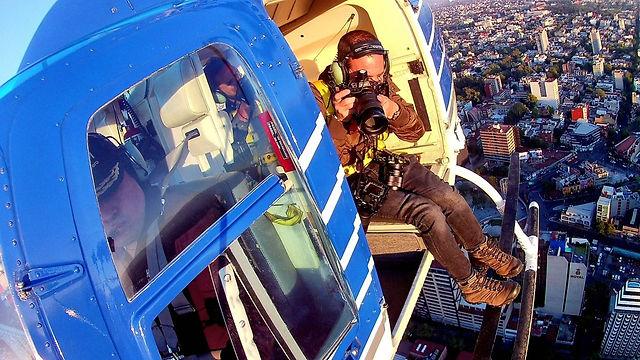 vuelo en helicoptero sin puertas