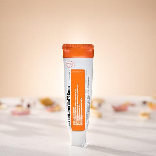 提亮膚色 淡化痤瘡引起的色素沉澱 PURITO Sea Buckthorn Vital 70 Cream
