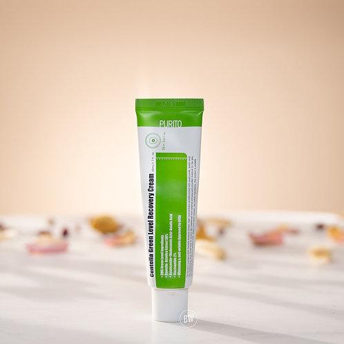 積雪草修復霜 舒缓受損皮膚 改善粉刺後的痕跡 适合痘痘 暗瘡 敏感型 Centella Green Level Recovery Cream 50 ml