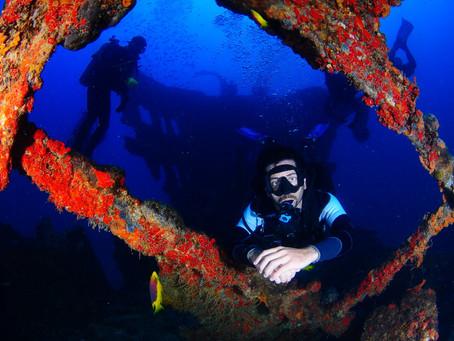 Recife: naufrágios em viagens de mergulho
