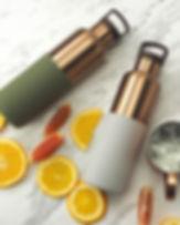 HYDY Bottle, CinCin Deco, Bronze Gold, Double Wall Stainless Bottle