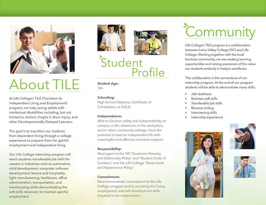 college brochure copywriting