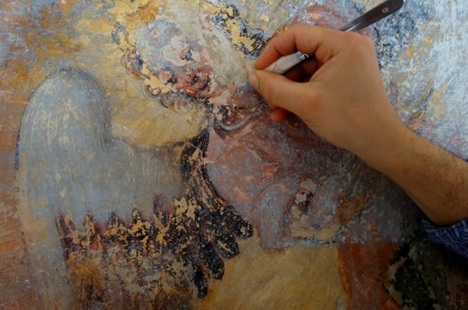 restauro affreschi made in cloister