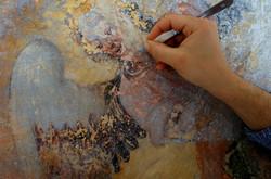 Il restauro degli affreschi