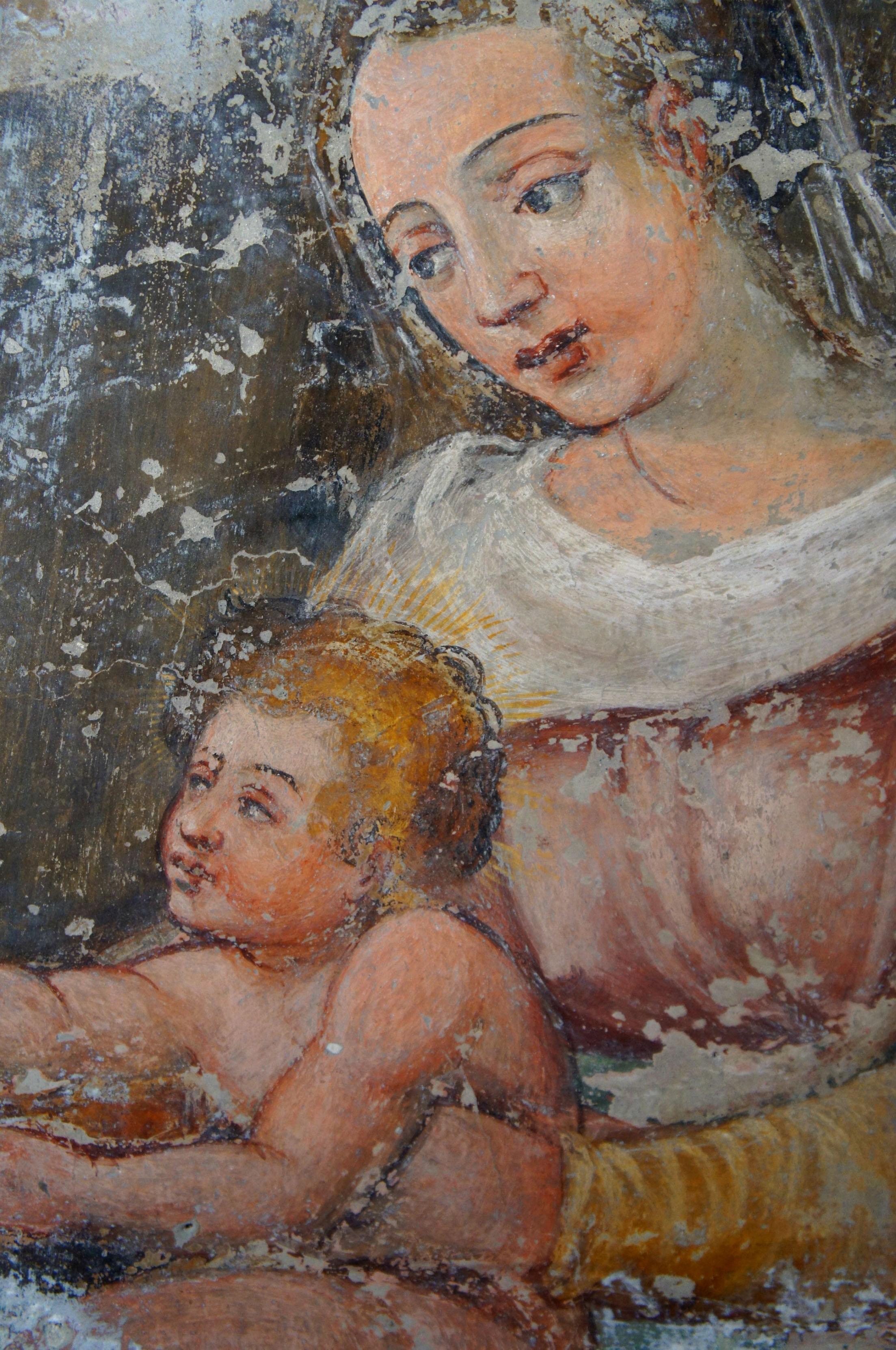 dettaglio affreschi s. caterina
