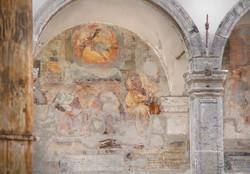 lunetta affreschi s. caterina