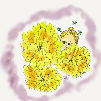 Dandelion & Butterefies - Peek-a-boo 2017