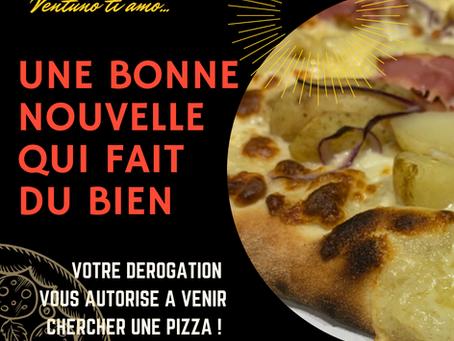 Une Pizza c'est bon pour le moral ....