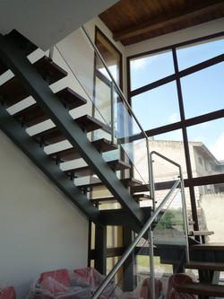 scala acciaio legno policarbonato