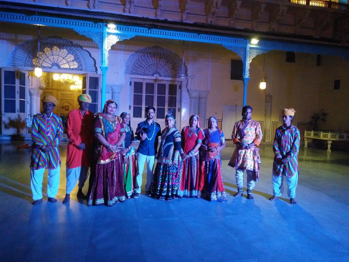 Filming at the Royal Jaipur Palace
