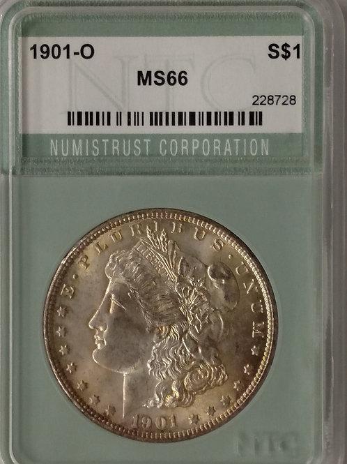 1901 O Morgan Silver Dollar MS 66