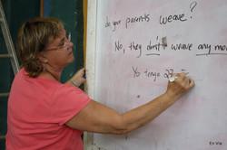 Susan at Whiteboard