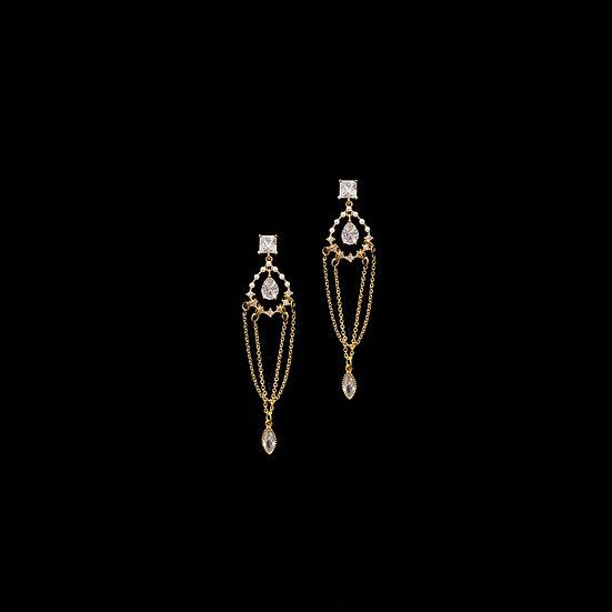 GUTTATE Zircon Drop Earrings