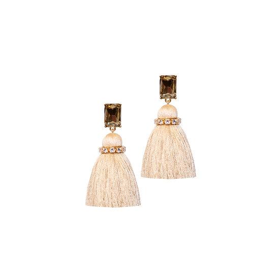 MARTINA GRANDEUR Zircon Tassel Earrings