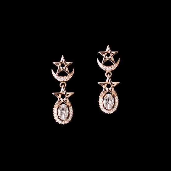 DANICA S925 Rose Gold Zircon Earrings