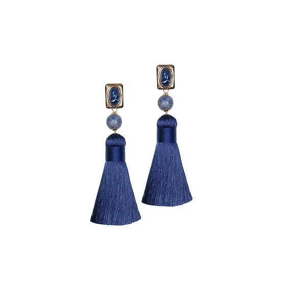 EDEN Natural Stone Tassel Earrings