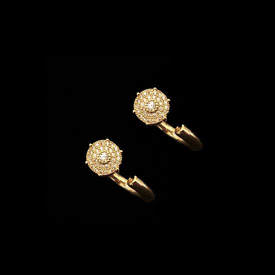 VALE Zircon Hoop Earrings