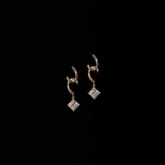 GWENDOLYN Zircon Drop Earrings