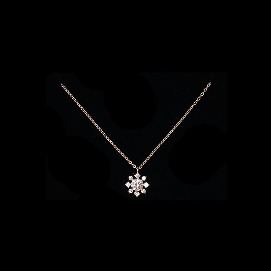( PRE-ORDER ) ALI SNOW S925 Rose Gold Zircon Necklace