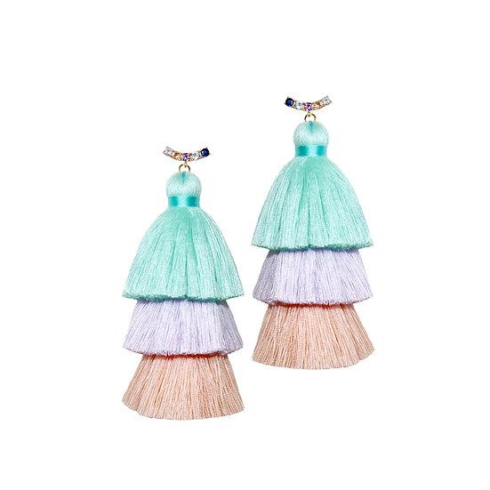 WHITNEY Zircon Tassel Earrings