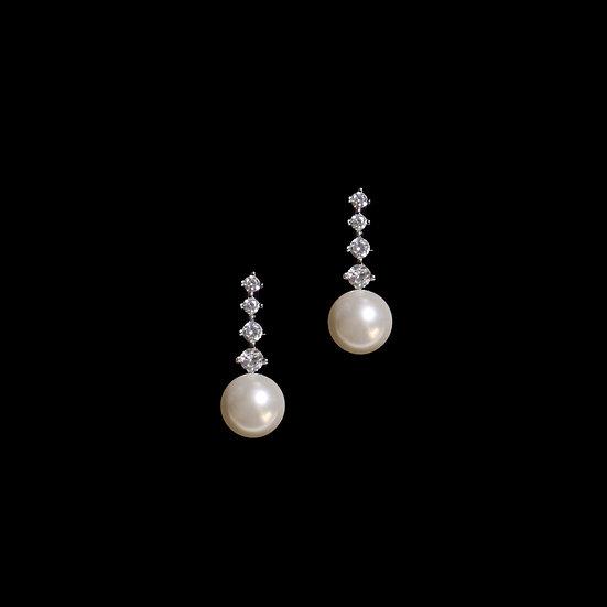 KATE Zircon & Swarovski Crystal Pearl Drop Earrings