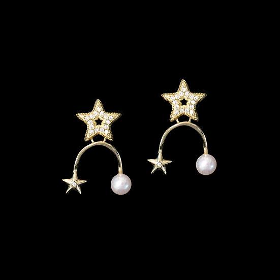 STARR KYA Zircon & Freahwater Pearl Earrings