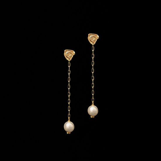 STARRY NIGHT Zircon & Swarovski Crystal Pearl Drop Earrings