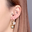 Thumbnail: ELENA Zircon Hoop Earrings