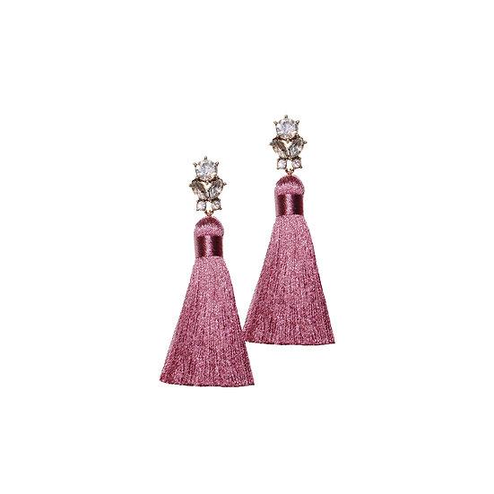 ROSALIND Crystal Vintage Tassel Earrings