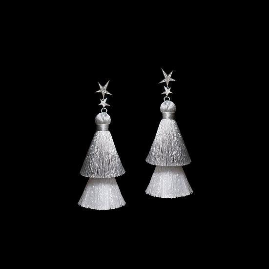 NORA GRANDEUR Zircon Tassel Earrings